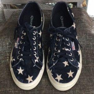 Superga women's size 8.5 navy sneakers
